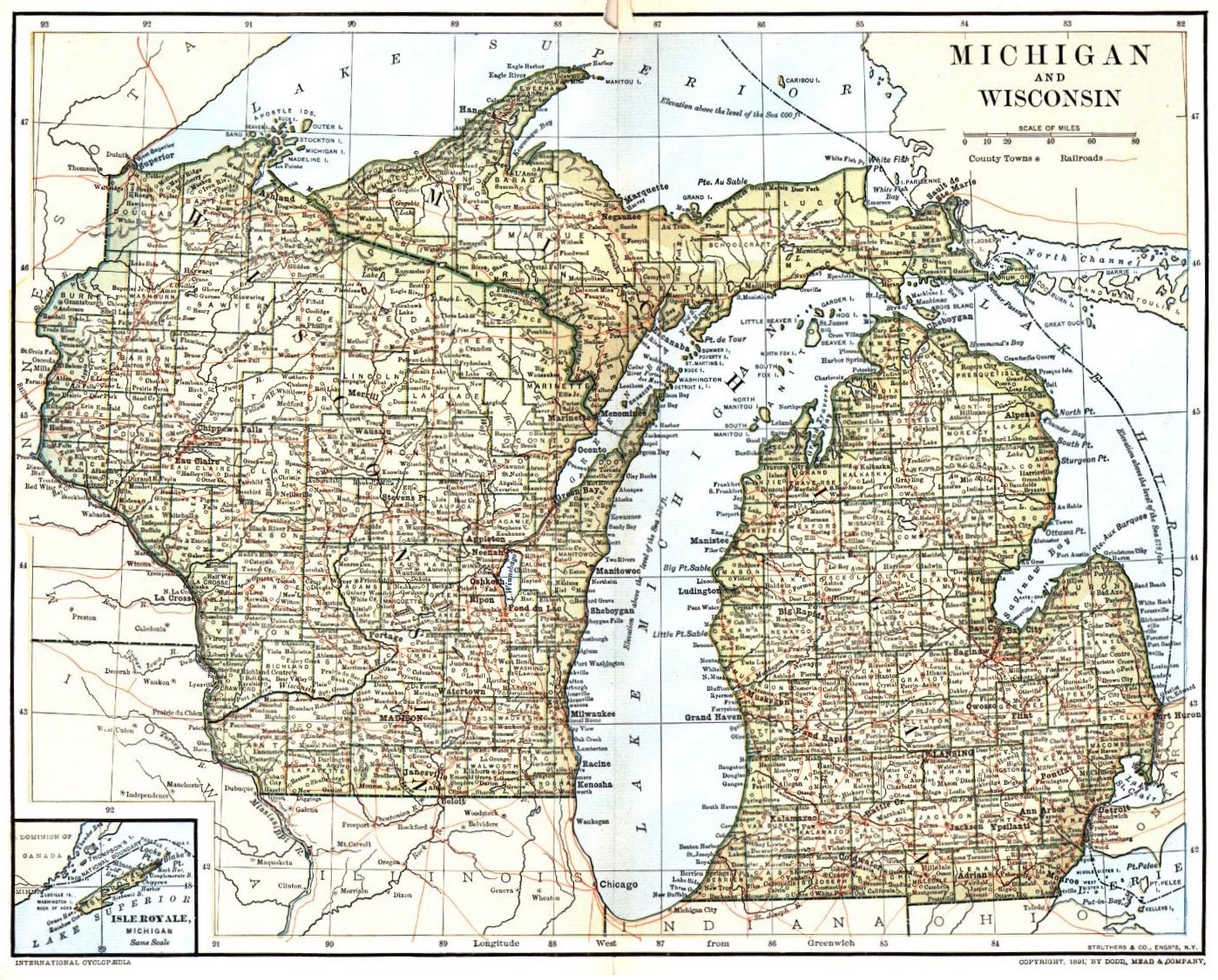 Wisconsin Maps Gazetteers WIGenWeb Project - Map of wi